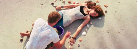 "Miley Cyrus and Liam Hemsworth in ""The Last Song"""