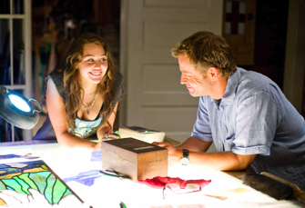 "Miley Cyrus and Greg Kinnear in ""The Last Song"""